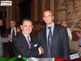 ANTON FRANCESCO ALBERTONI PRESIDENT SALONI NAUTICI & IONUT TUDOSE _Genoa International Boat Show 2014 (70) - Copy