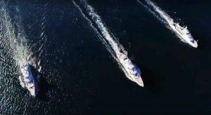 Trei megayachturi Benetti au defilat la Livorno